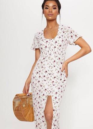 Платье pretty little thing в деревенском стиле новое с биркой