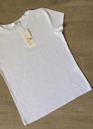 Новая качественная однотонная котоновая белая футболка