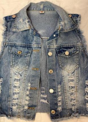 Джинсовая жилетка / джинсова жилетка