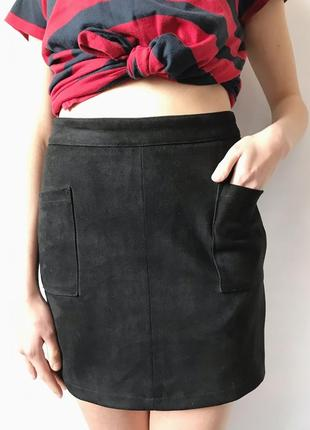 Замшевшая юбка, юбка под замш