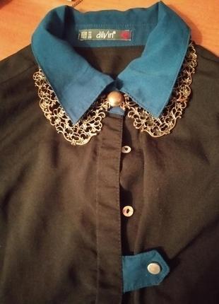 Шикарный воротник под блузку, платье бронзового цвета