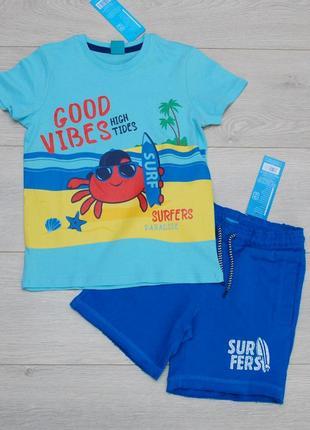 Костюм летний для мальчика футболка и шорты pepco. польша.