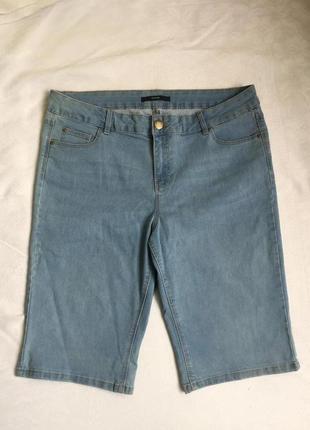 Распродажа! бриджи женские джинсовые стреч 2xl (52)