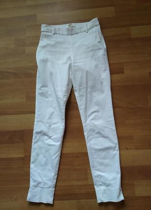 Білі стрейчові  брюки штани