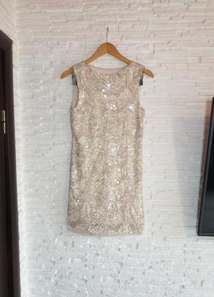 Очаровательное нарядное платье бисер пайетки boohoo