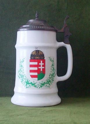 Кружка пивная бокал фарфор герб австро-венгрии 1913