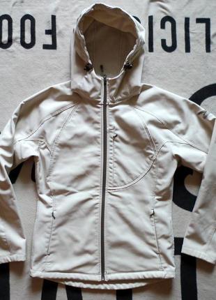 Salewa breine куртка штормовка виндстопер микрофлис ivory бежевая трекинговая спортивная