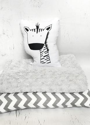 Эксклюзивная авторская игрушка подушка зебра