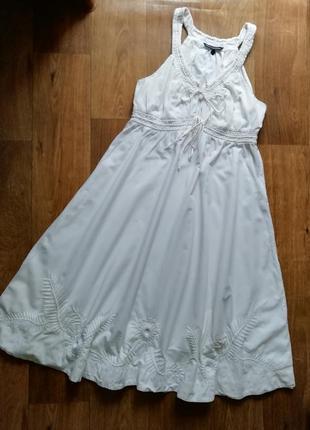 Котоновый сарафан с вышивкой, плаття, платье, сукня