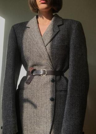 Винтажный шерстяной твидовый пиджак harris tweed by dunn & co