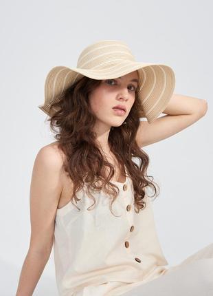 Соломенная панама летняя шляпа sinsay
