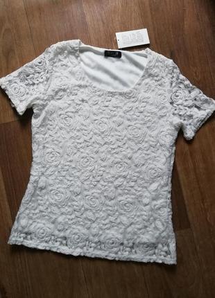 Футболка гипюр, блузка, кофта, в цветы