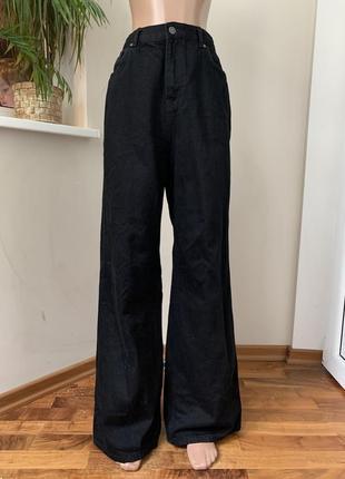 Плотные широкие джинсы кюлоты