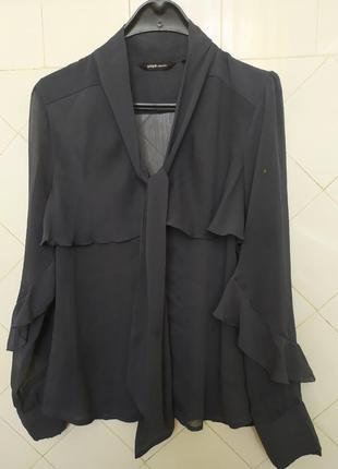 Шикарная графитовая, блуза с красивым кроем.р.42