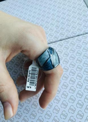 Широкое эмалевое кольцо мозаика 19 размер
