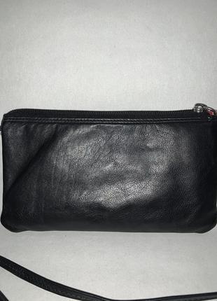 Кожаная компактная сумочка- кошелёк 2 в 1 на/ через плечо. стиль кросс боди