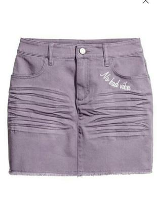 Стильная летняя юбка для девушки h&m . р.xxs рост 164