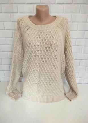 Теплый , вязаный свитер oversize h&m  /арт.03