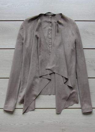 Накидка кардиган куртка жакет под замш ассиметричная от zara