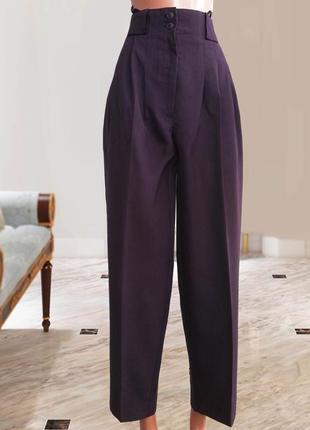 Крутые брюки со стрелкой цвет баклажан marks & spencer