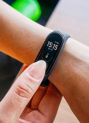 Фитнес браслет, трекер, смарт smart band m4. умные часы.