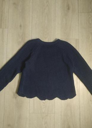 Синий вязаный свитер