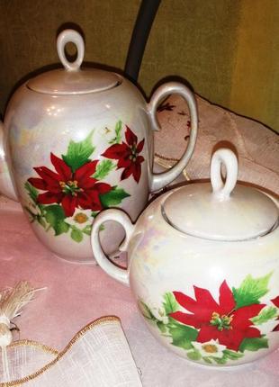 Чайный (кофейный)чайник  и сахарница