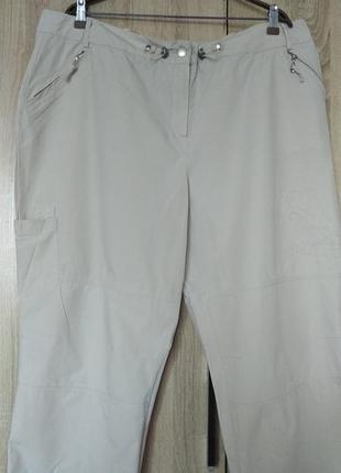 Стильные натуральные бриджи капри шорты размер 58-60