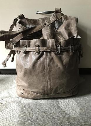 Кожаная сумка - мешок от next