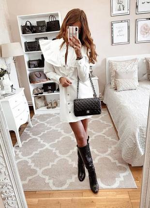 Крутое платье джинсовое белое zara размер s оригинал