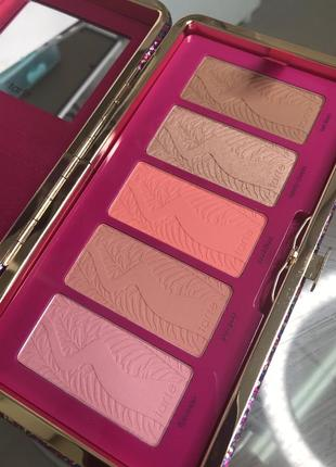 Палетка румян tarte life of the party clay blush palette & clutch