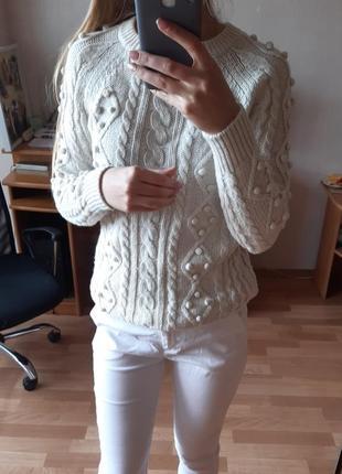 Теплый базовый свитер