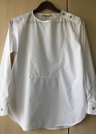 Базовая белая рубашка из поплина mango basic / xs / хлопок