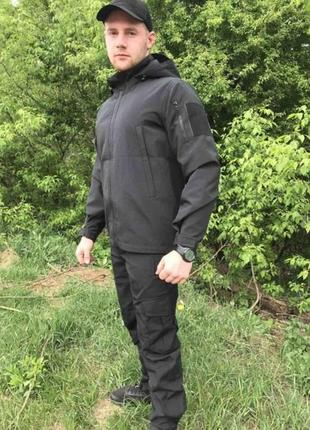Костюм чорний ріп-стоп літній