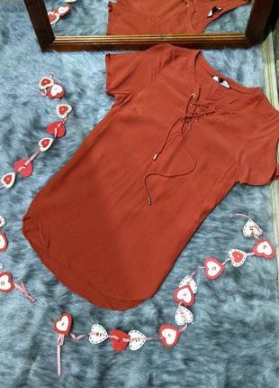 Кофточка блуза со шнуровкой new look