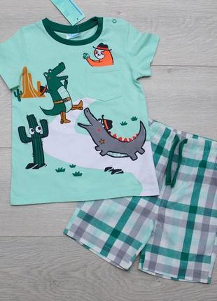 Костюм летний для мальчика футболка и шорты. pepco польша 92