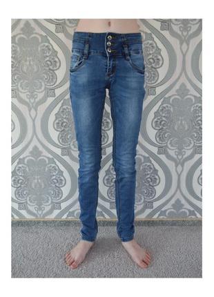 Джинси джинсы штаны штани сині блакитні синие голубые vanver