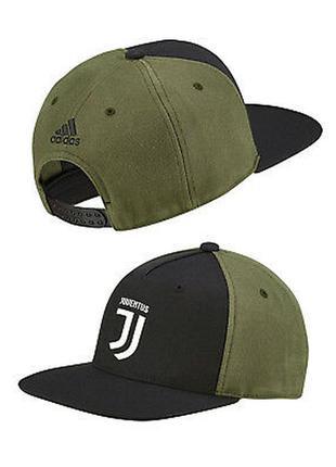 Котоновая кепка снепбек бейсболка чёрная хаки juventus adidas оригинал