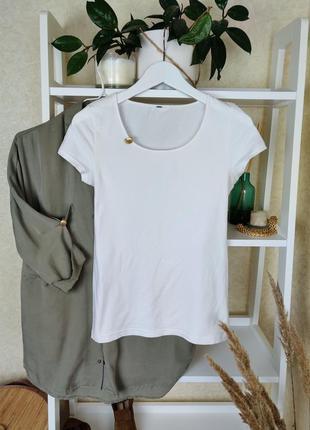 Белая футболка h&m\базовая