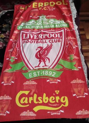 Полотенце с символикой fc liverpool