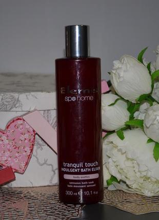 Эликсир для ванны elemis spa home tranquil touch indulgent bath elixir body exotics 300 ml