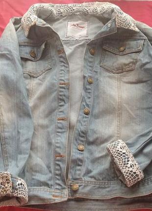 Крутая джинсовая куртка, курточка, джинсовка, большой размер