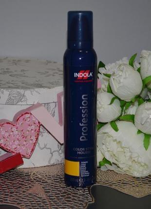 Indola - profession - мусс оттеночный для волос с эффектом фиксации золотистый