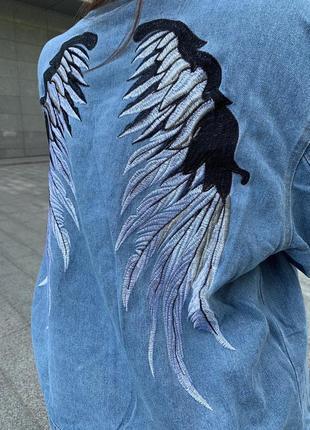 Бомбовый джинсовый пиджак коттоновый джинсовка курточка