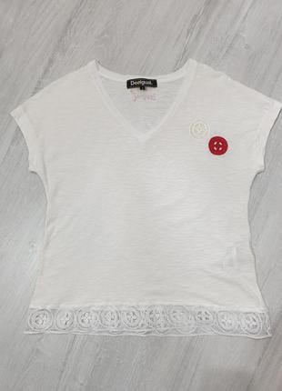 Хлопковая футболка desigual