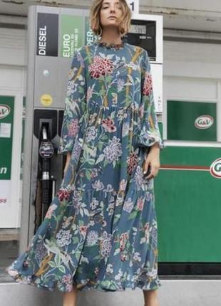 Невероятное шифоновое платье миди gp & j baker x h&m