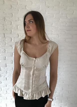 Блуза с рюшами guess