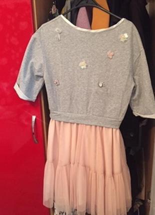 Итальянское платье с фатином