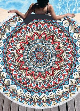Пляжный коврик мандала полотенце плед покрывало 1433