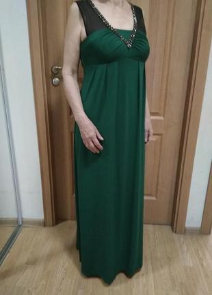 Шикарное длинное платье! цвет в реале супер! р. 10(38)